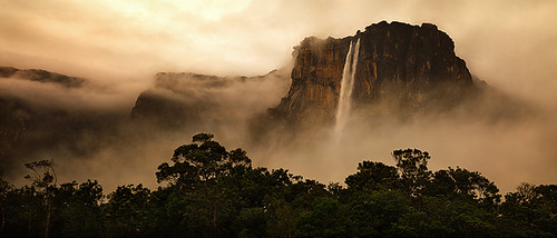 park travel sunset motion water angel clouds digital america sunrise michael waterfall amazon rainforest venezuela south falls hasselblad anderson national waterfalls tropical gran medium format angelfalls canaima wilderness tropics silky highest sabana tepui michaelanderson h2d auyan