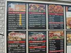 Carls Jr menu, Sep 2000