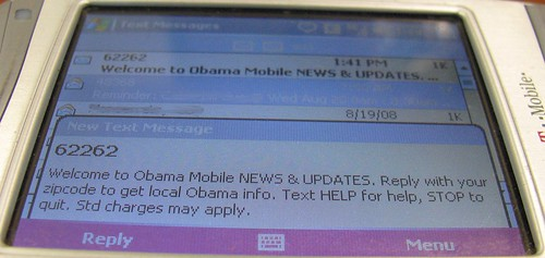 Barack Obama Text Message Marketing Screenshot 1 by DavidErickson