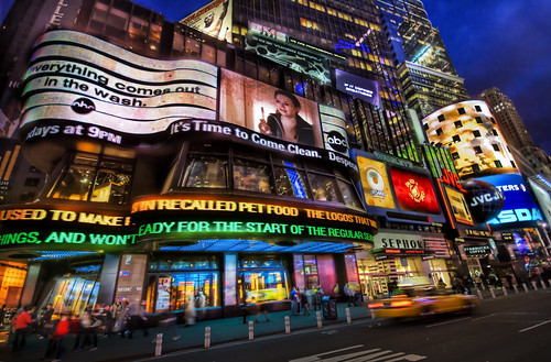 Lights, pictures and words from New York's Times Square.