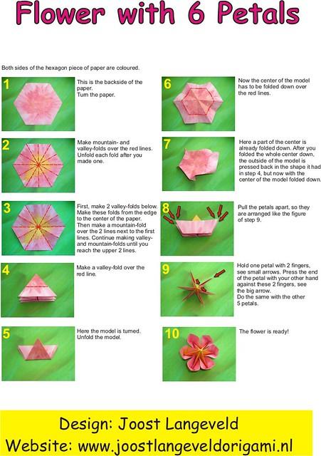 Origami Flower (diagrams)