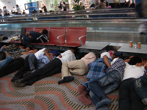 Sleeping travellers