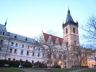 Image of Novoměstská radnice near Staré Město. praha czechrepublic 2008 03020310républiquetchèque
