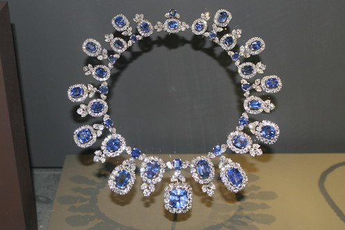 Hall Sapphire and Diamond Necklace