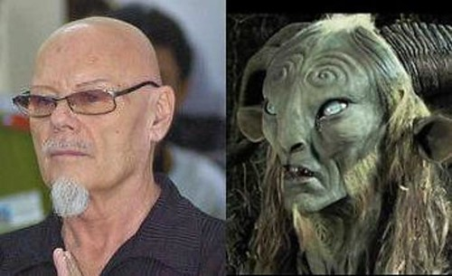 "Pan (of ""Pan's Labyrinth"") and Gary Glitter"