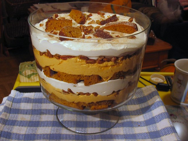 Chai spiced pumpkin mousse cheesecake trifle | Layered with ...