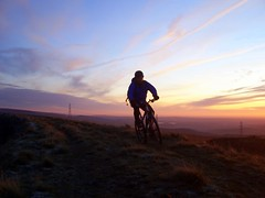 Mountain biking.