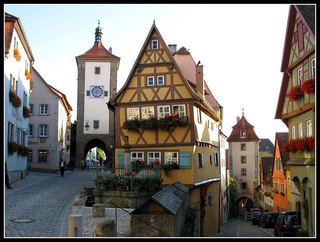 The most famous Place - Rothenburg ob der Tauber, Bavaria Germany