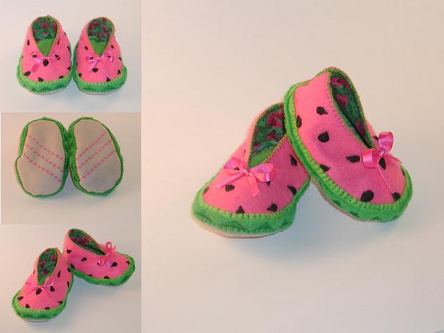 Watermelon baby bootie flickr photo sharing