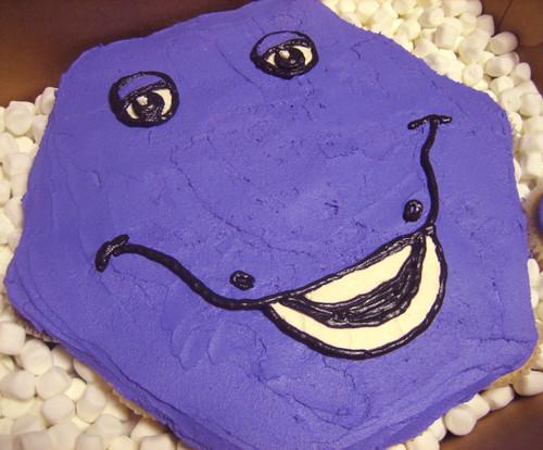Barney Pull-apart Birthday Cupcake Cake