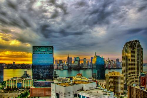nyc newyorkcity morning light ny newyork skyline landscape geotagged newjersey jerseycity cityscape view nj hdr mudpig stevekelley