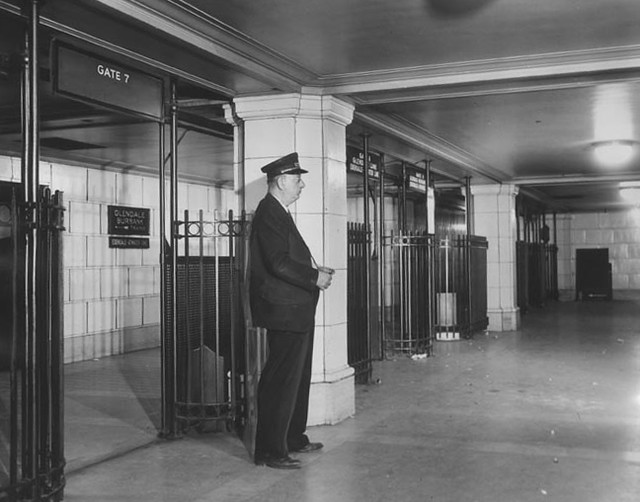 Hollywood Subway Terminal platform level 1946