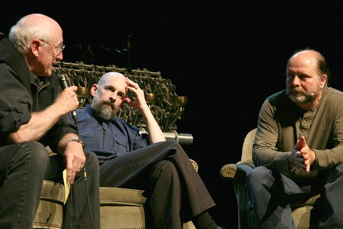Stewart Brand, Neal Stephenson and Danny Hillis at the book launch for Anathem, September 9th, 02008