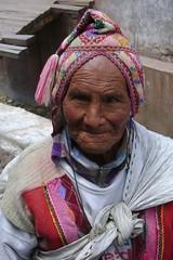 Closeup of old man at Pisac