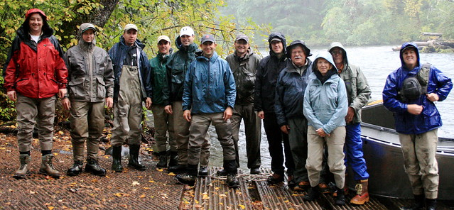 McKenzie River two-fly tournament contestants