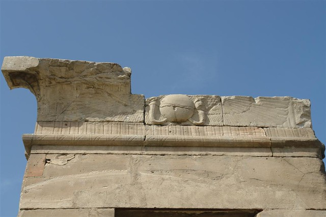 Detalle en el templo, con el dios Ra (sol) Templo de Debod de Madrid, vínculo eterno con Egipto - 2981938118 bdf638f0de z - Templo de Debod de Madrid, vínculo eterno con Egipto