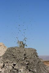 Mud pots / mud volcanoes at the Salton Sea