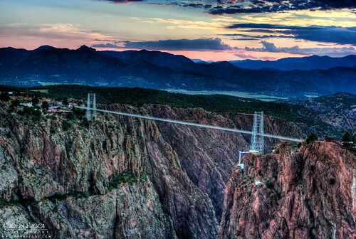 city bridge sunset sky usa mountain mountains canon john colorado scenic royal canyon gorge hdr cañon royalgorge canoncity cañoncity fuggi johnfuggicom johnfuggi