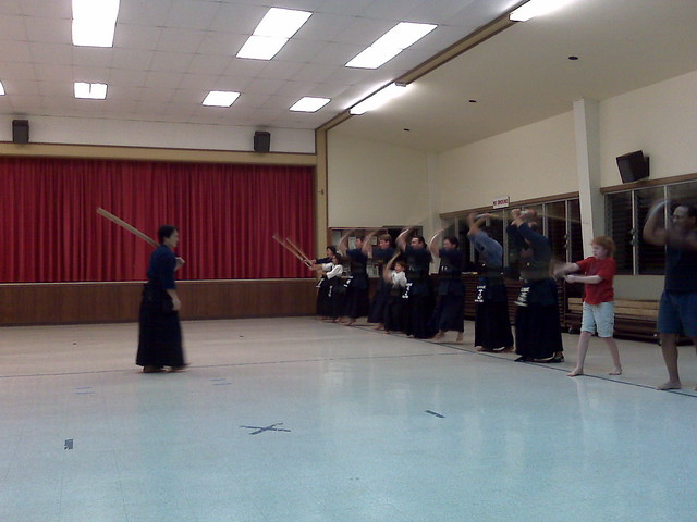 Kendo class connor in the line flickr photo sharing for Kendo dojo locator
