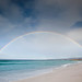 Double rainbow over Bay of Fires Tasmania