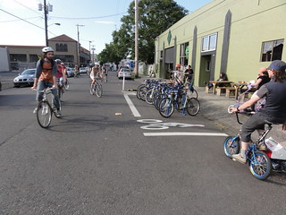 Two Rides Converge at Bike Corral