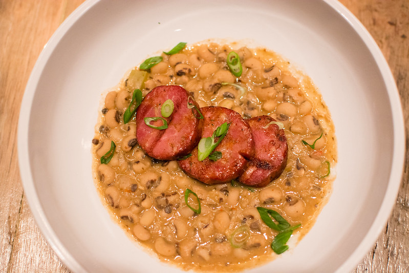 Andouille and Black Eyed Pea Stew by Josh Galliano