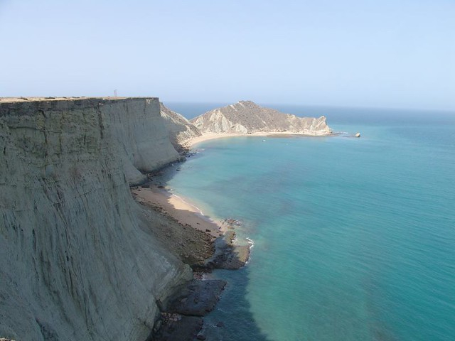A view of sea, coral reefs and Astola Island - Ramsar Site