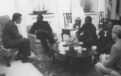 George Bush, Jonas Savimbi & Chester Crocker 1986