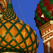 Detail of the Domes of St. Basil's Cathedral in Moscow