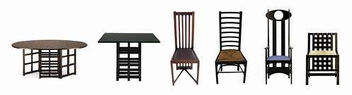 el estilo de mackintosh el historial del dise o. Black Bedroom Furniture Sets. Home Design Ideas