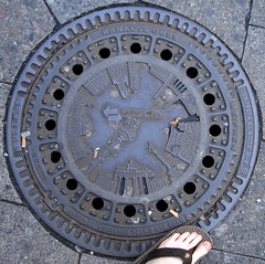 iron, manhole, manhole cover, circle,