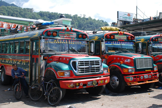 Bus station of Santiago Atitlán - Guatemala
