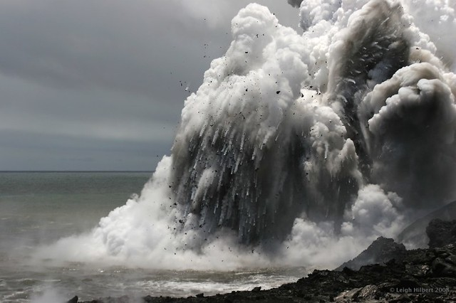 When Molten Lava Ejects From Underwater