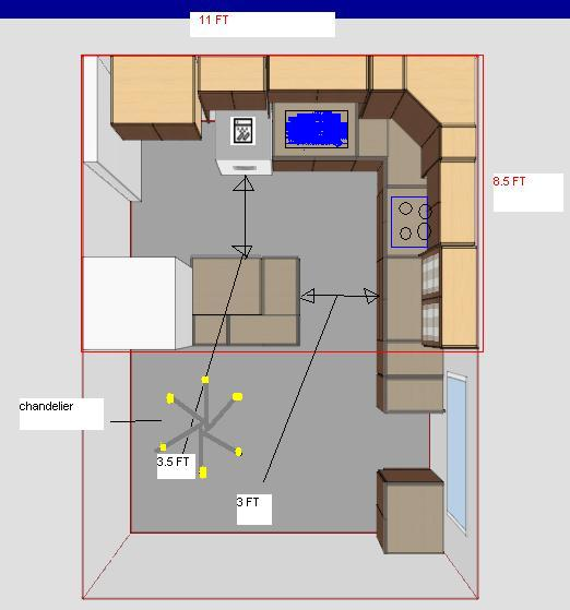 Recessed Lighting Coverage Area : Kitchen recess lights lay out