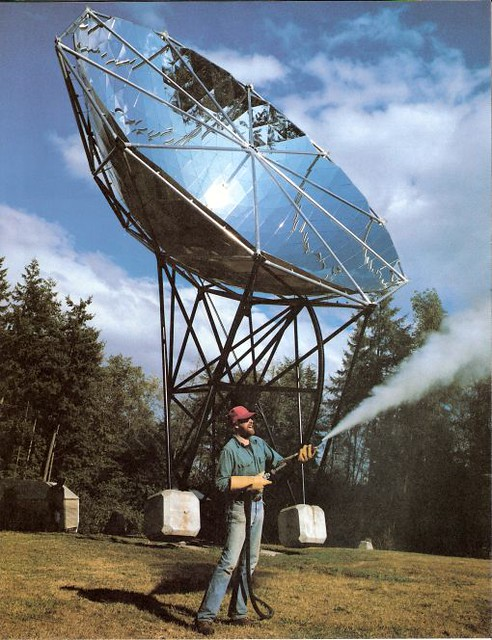 Grist Reader Doug Wood and his solar thermal steam gun