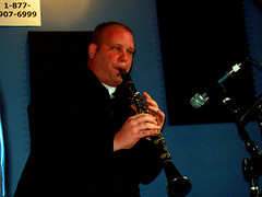Bruce Brackman plays clarinet with The Palmetto Bug Stompers
