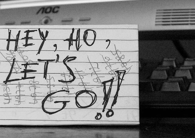letra de hey ho lets go: