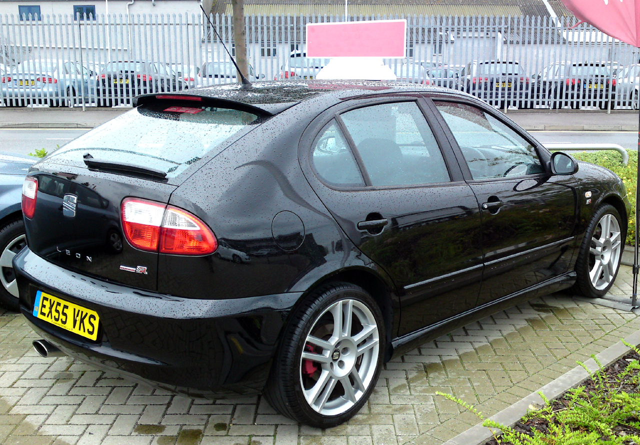 seat leon cupra r 225 in black a photo on flickriver. Black Bedroom Furniture Sets. Home Design Ideas