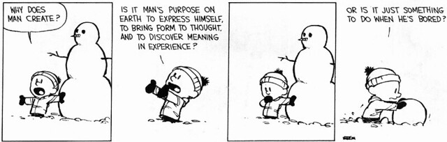 calvin and hobbes an existentialist view essay Ebooks forum dssa@gmailcom: oct 4 an essay on the kyoto school heisig, james w six existentialist thinkers blackham, h j.