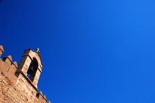 Image of Alcazaba de Almería. cruise blue sky españa azul andalucía spain campana cruz cielo almeria almería campanario alcazaba