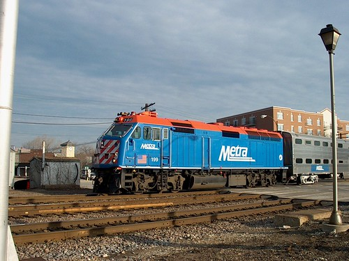 Westbound Metra commuter local preparing to depart Brookfield Illinois. December 2006. by Eddie from Chicago