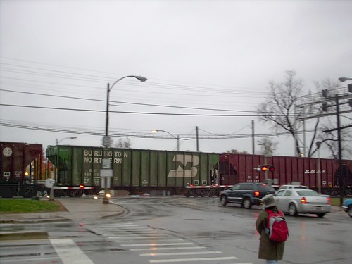Eastbound BNSF Railway freight train at Prarie Avenue. Brookfield Illinois. November 2007. by Eddie from Chicago