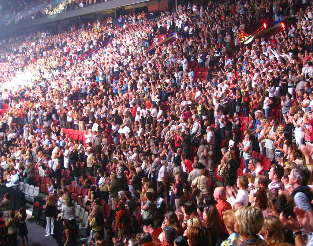 Celine Dion Concert Crowd