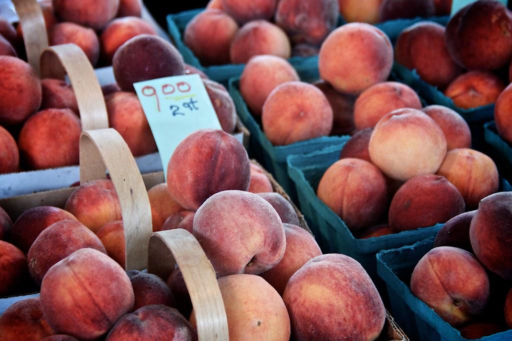 Peaches at Ithaca Farmers Market