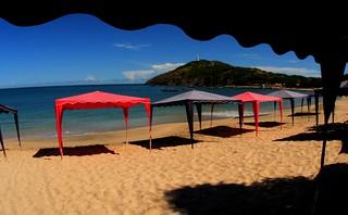 Tents 2 at Zaragoza Beach, Pedro Gonzalez, Margarita Island, Venezuela