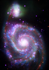 Whirlpool Galaxy (M51): A Classic Beauty (A spiral galaxy 31 million light years from Earth.)