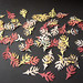 Autumn Scene - handmade punched oak leaves ~ 3 of 4 photos