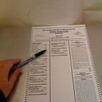 Our voting system= ovals and a sharpie
