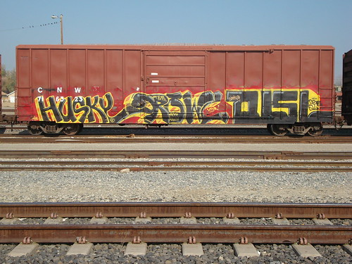 Husky Growl Tusie TSB CentralVAlley Freights Graffiti Art