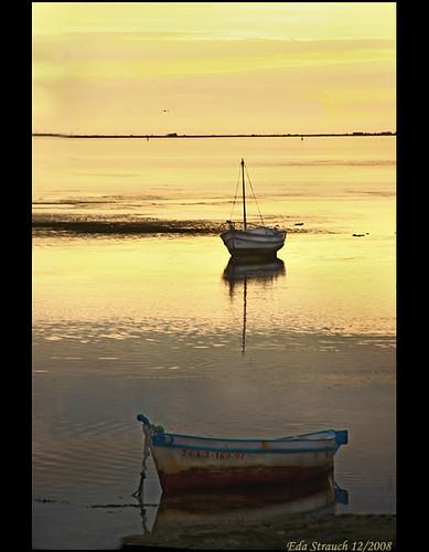 sunset boats golden spain andalucia cadiz puertoreal